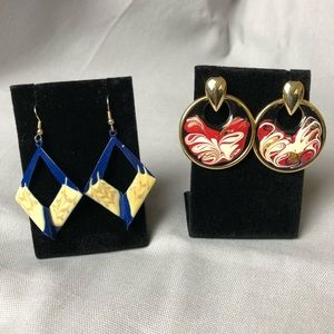 Vintage earrings two pairs